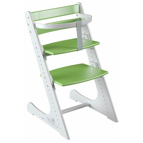Купить Растущий регулируемый стул Конёк Горбунёк КОМФОРТ в комплекте с ограничителем, бело-зеленый , Конек Горбунёк, Стульчики для кормления