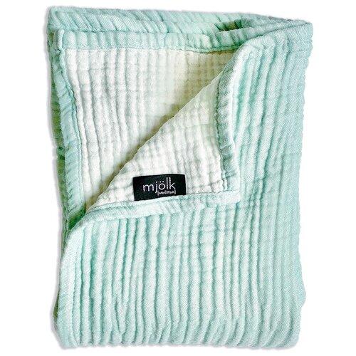 Купить Одеяло Mjolk Муслиновое 120х100 см тиффани, Покрывала, подушки, одеяла