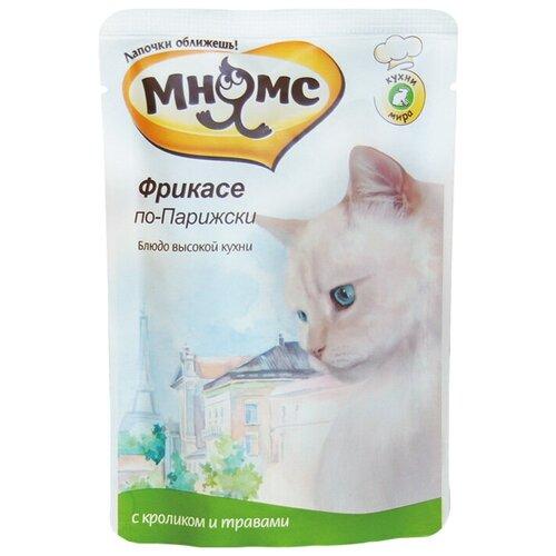 Влажный корм для кошек Мнямс Фрикасе по-парижски, с кроликом, с травами 85 г