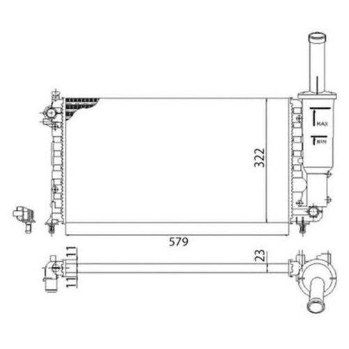 Основной радиатор (двигателя) Magneti Marelli 350213892003 для Fiat Punto