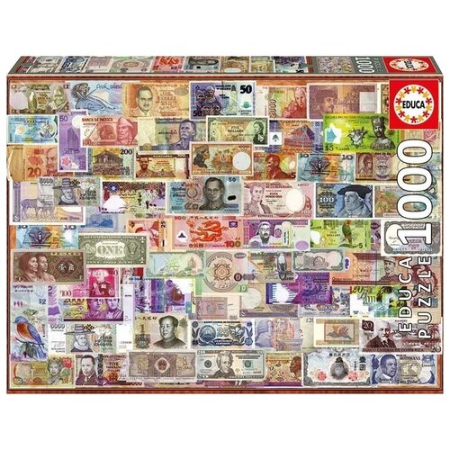 Фото - Пазл Educa Мир банкнот (17659), 1000 дет. пазл educa мир банкнот 1000 деталей