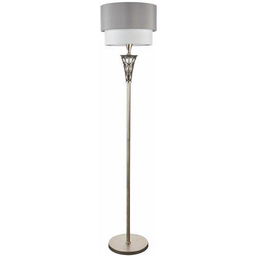 Торшер MAYTONI Lillian H311-FL-01-G, E27, 100 Вт, цвет арматуры: серебристый, цвет плафона/абажура: серый