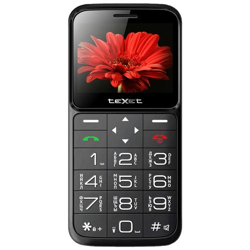 Телефон teXet ТМ-В226, черный/красный