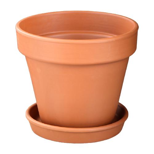 Горшок Красная глина с поддоном Стандарт 16 х 16 х 15 см коричневый по цене 371