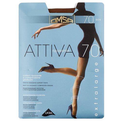 Колготки Omsa Attiva XXL, 70 den, размер 6-XXL, camoscio (коричневый) колготки omsa attiva 70 den размер 2 s camoscio коричневый