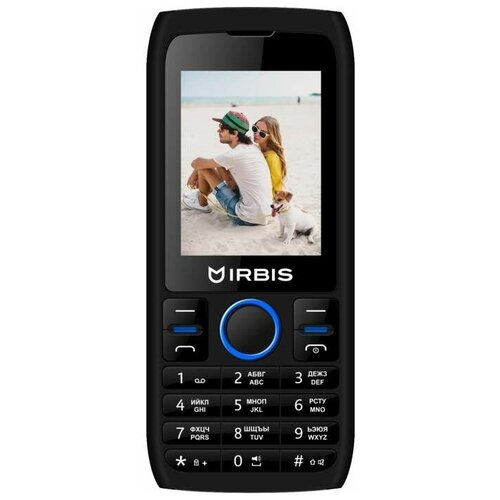 Телефон Irbis SF54x черный/синий