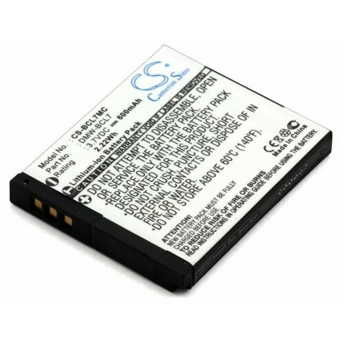 Фото - Аккумулятор для Panasonic DMW-BCL7, DMW-BCL7E (600mAh) аккумулятор panasonic dmw blc12e для fz1000 fz300 g5 g6 gh2 fz200 gx8