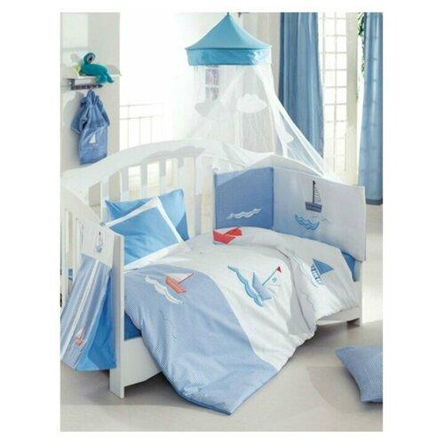 Купить Комплект из 6 предметов серии Marine (Blue), Kidboo, Постельное белье и комплекты