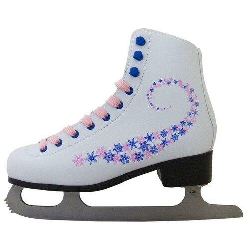 Фигурные коньки Novus AFSK-20 белый/розовый/сине-розовые звезды р. 36 по цене 2 070