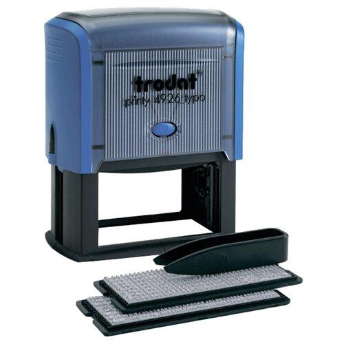 Фото - Штамп Trodat 4926 прямоугольный самонаборный синий штамп trodat 4911p4 1 23 прямоугольный исх синий