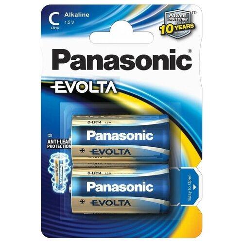 Фото - Батарейка Panasonic Evolta C/LR14, 2 шт. батарейка c ergolux lr14 alkaline bl 2 lr14 bl2