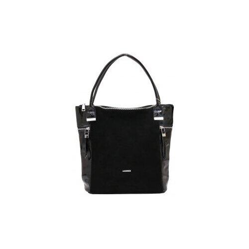 314-66 1719 Женская сумка замшевая Ludor Черный