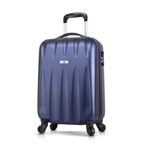 Чемодан пластиковый с колесами DELVENTO Best темно-синий, маленький размер