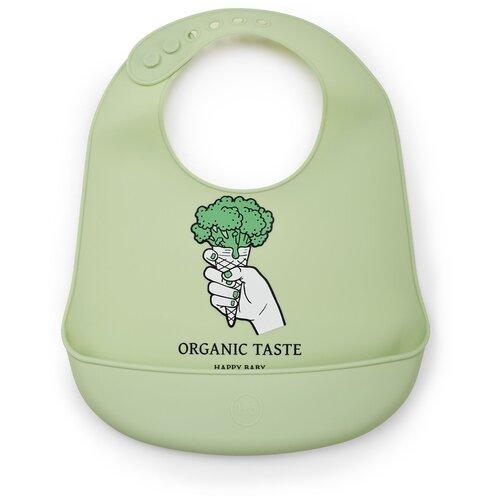 каталка happy baby racer green Happy Baby Нагрудник Expert Silicone baby bib, green