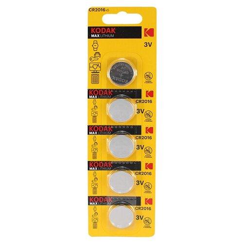 Фото - Батарейка литиевая Kodak CR2016 5шт батарейка cr2016 литиевая varta cr2016 3v 1 шт