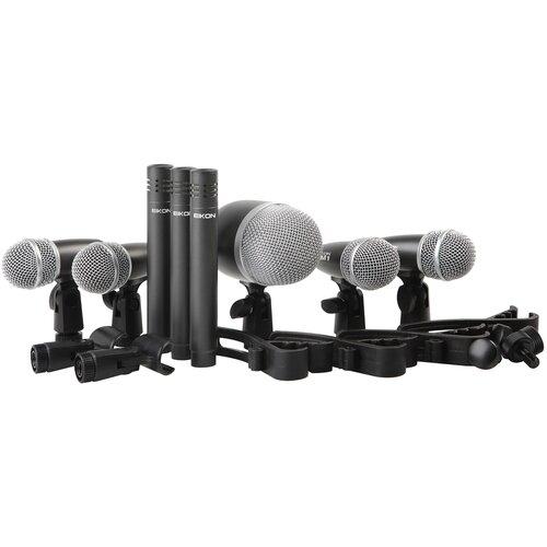Комплект микрофонов PROEL DMH8XL, черный/серебристый
