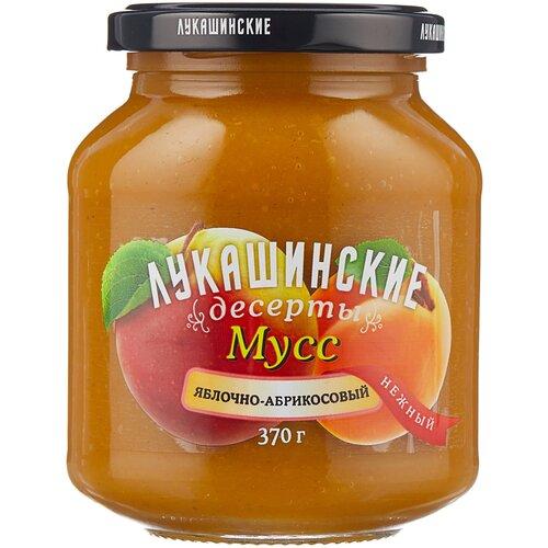Фото - Мусс Лукашинские яблочно-абрикосовый, банка, 370 г варенье лукашинские черничное банка 450 г