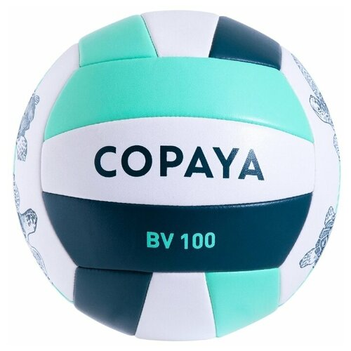 Мяч для пляжного волейбола зеленый BVBS100 COPAYA X Декатлон