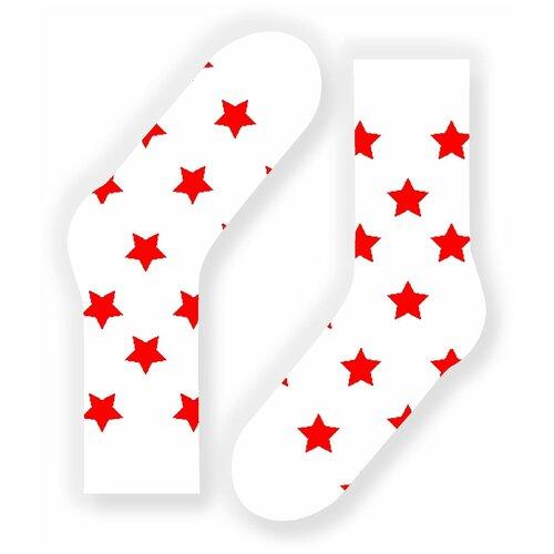 Носки St. Friday Звездец, размер 34-37, белый носки st friday кислотный диджей размер 34 37 белый