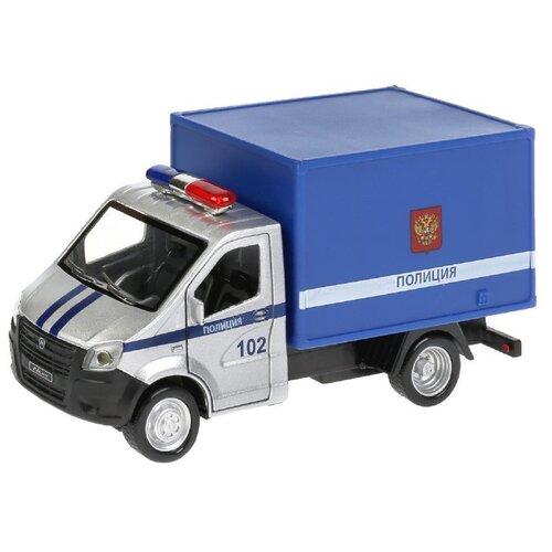 Фургон ТЕХНОПАРК Газель Next Полиция (NEXTKUNG-15SL-POL), 15 см, серый/синий