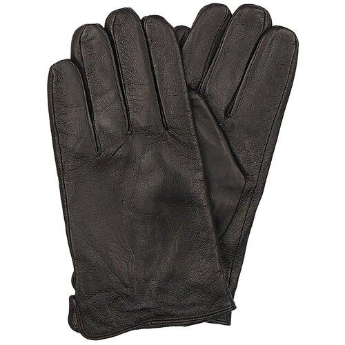 Перчатки Мужские / Натуральная кожа / Подклад Натуральная шерсть / Chansler / Черный / ART203 / Размер 11