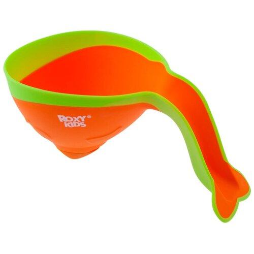 Ковшик для ванны Roxy kids Flipper RBS-004 с лейкой оранжевый/желтый roxy kids коврик roxy kids для ванны антискользящий резиновый 35 76 см желтый