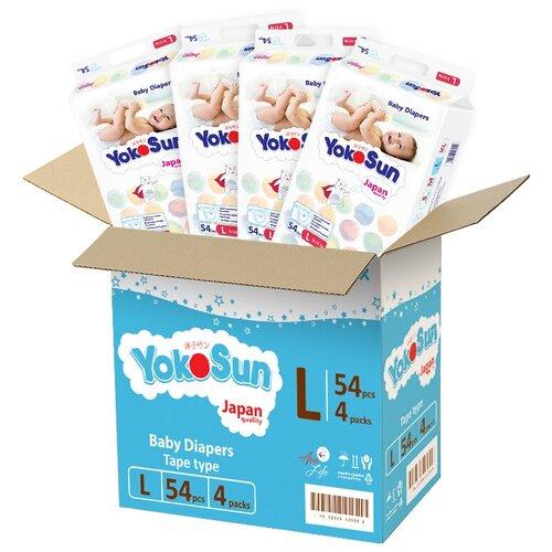Фото - YokoSun подгузники L (9-13 кг), 216 шт. подгузники yokosun l 9 13 кг 54 шт