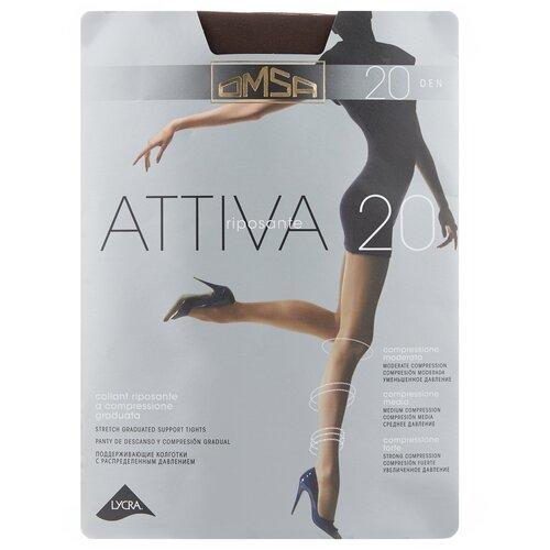 Колготки Omsa Attiva, 20 den, размер 3-M, marrone (коричневый) колготки omsa attiva 20 den размер 2 s marrone коричневый