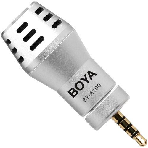 Микрофон BOYA BY-A100, серебристый