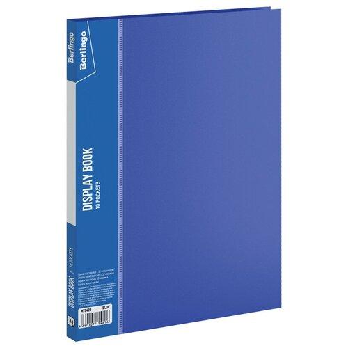Фото - Berlingo Папка с 10 вкладышами Standard А4, 9 мм, 600 мкм, пластик синий berlingo папка со 100 вкладышами standard a4 пластик синий