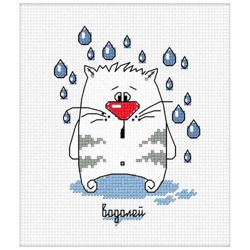 Набор для вышивания «Кошачий гороскоп. Водолей», 9x12 см, Овен