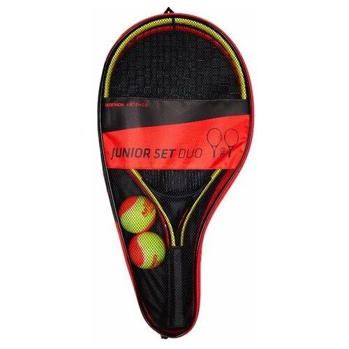 Фото - Набор для игры в большой теннис детский JUNIOR DUO 2 ракетки 2 мяча 1 чехол ARTENGO X Декатлон набор для игры в теннис abtoys 2 ракетки 2 мяча на блистере 43x21x4 5