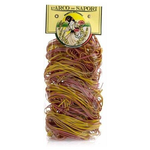Цветная паста клубок желто-красная Pastificio Curti 250 г