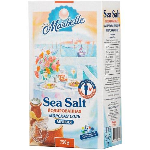 setra соль морская мелкая йодированная с пониженным содержанием натрия 500 г Marbelle Соль морская, йодированная, мелкая, 750 г