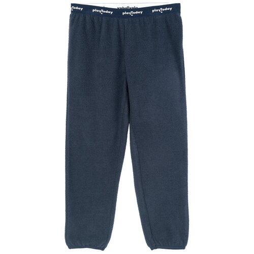 Спортивные брюки playToday размер 128, темно-синий