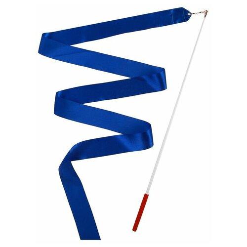 Фото - Палочка с лентой для художественной гимнастики Grace Dance 3867787 синий палочка с лентой для художественной гимнастики larsen ab220 синий