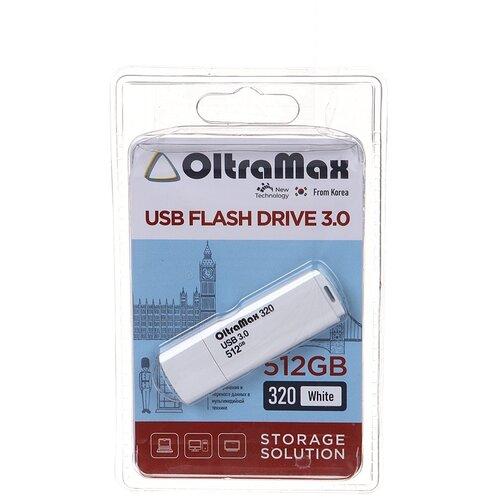 USB Flash Drive 512Gb - OltraMax 320 3.0 White OM-512GB-320-White