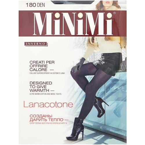 Фото - Колготки MiNiMi Lanacotone, 180 den, размер 4-L, fumo (серый) колготки minimi vittoria 20 den размер 4 l fumo серый