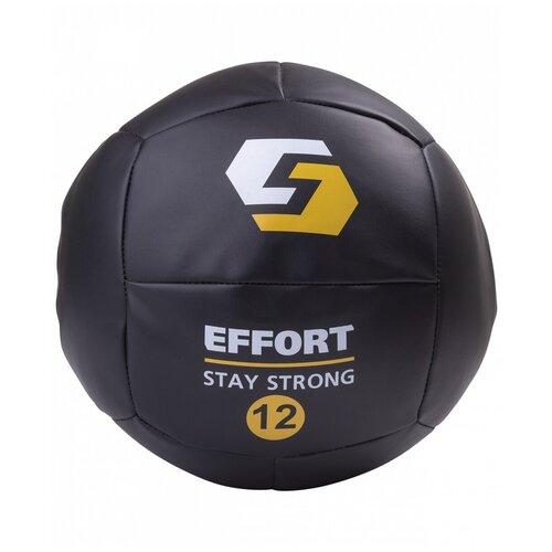 Медбол Effort E252, 12 кг черный недорого