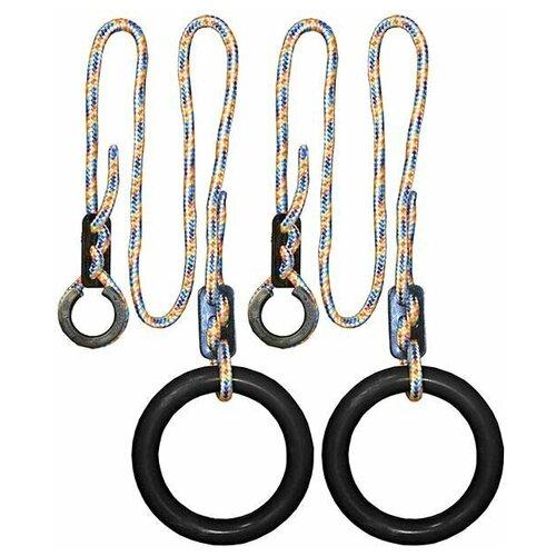 Кольца гимнастические круглые 01 В (Черный)