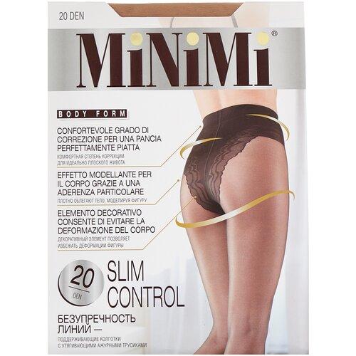 Фото - Колготки MiNiMi Slim Control, 20 den, размер 3-M, caramello (бежевый) колготки minimi slim control 40 den размер 3 m daino бежевый