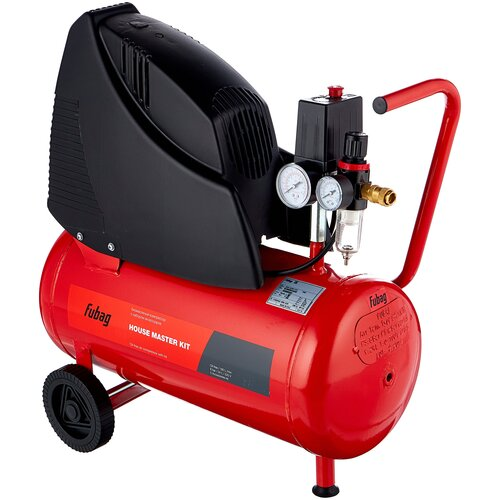 Фото - Компрессор безмасляный Fubag HOUSE MASTER KIT, 24 л, 1.1 кВт компрессор безмасляный fubag paint master kit 6 л 1 1 квт