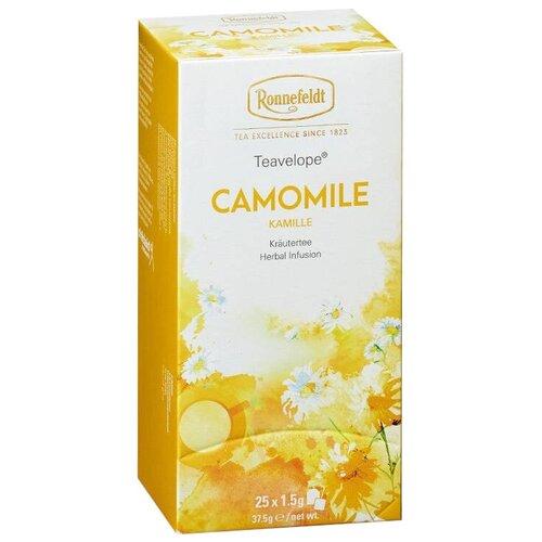 Чай травяной Ronnefeldt Teavelope Camomile в пакетиках, 25 шт. чай зеленый ronnefeldt teavelope classic green в пакетиках 25 шт
