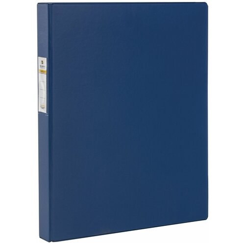Фото - BRAUBERG Папка на 4 кольцах А4, картон/ПВХ, 35 мм синяя brauberg папка на 2 х кольцах a4 картон пвх 35 мм синий