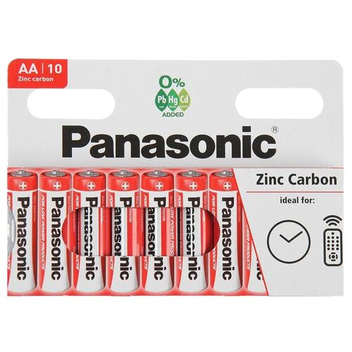 Фото - Батарейка Panasonic Zinc Carbon AA/R6, 10 шт. батарейка energizer max plus aa 4 шт