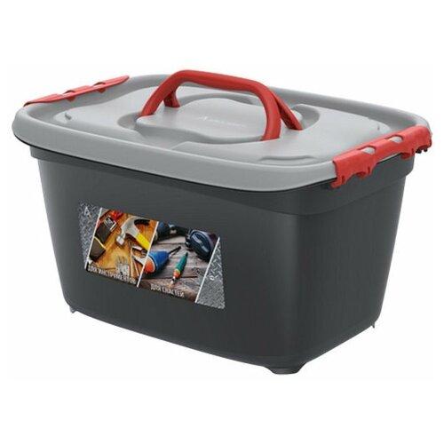 Бокс универсальный InHome для инструментов и рыболовных снастей, с вкладышем, 24л, 468х342х256мм сумка для рыболовных снастей ai road asia bktz tb 22