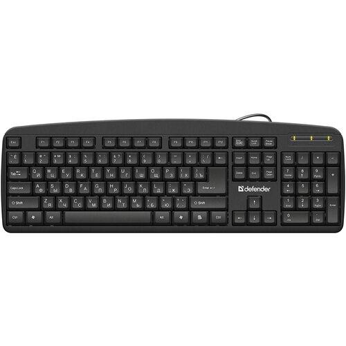 Клавиатура Defender Office HB-910 RU, черный, полноразмерная