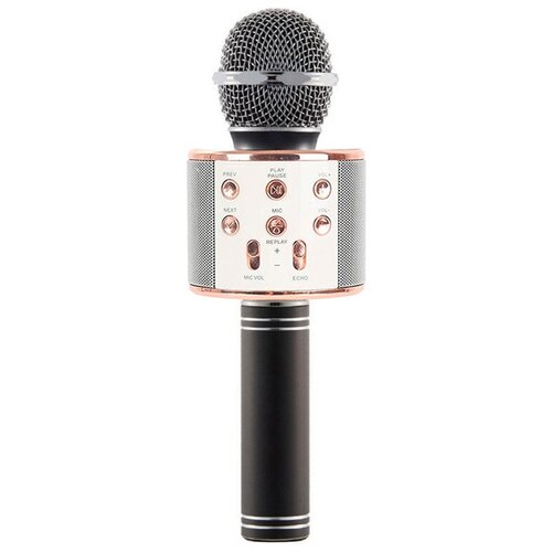 Беспроводной караоке-микрофон WS-858 (нежно черный)