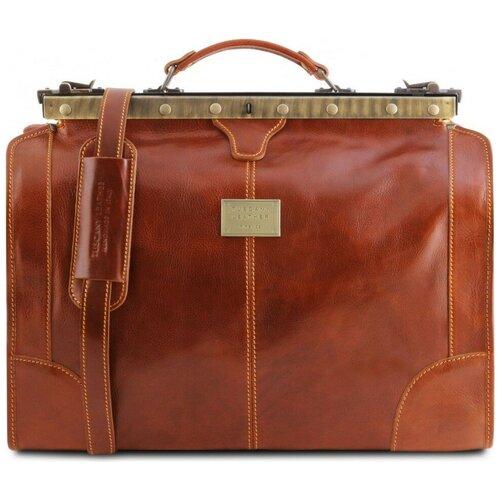 Дорожный кожаный саквояж Tuscany Leather Madrid TL1023 Мед