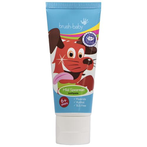 Купить Зубная паста Brush Baby BRB060 6+ мята, 50 мл, Гигиена полости рта